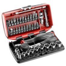 """Coffret serrage vissage 38 outils 1/4"""" NANO cliquet manche rotatif R.360NANO19IM Facom"""