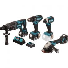 Ensemble de 4 machines 18 V Li-Ion 5 Ah DLX4080TX1 Makita