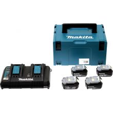 Pack Énergie 18V Li-Ion 4 batteries + 1 chargeur double Makita 197626-8