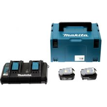 Pack Energie 18V 2 batteries 5Ah + chargeur double Makita