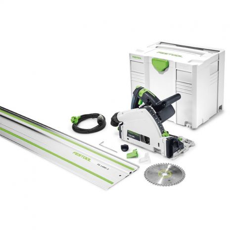 Scie plongeante TS 55 REBQ-Plus-FS Festool + rail et lame ø160
