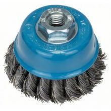 Brosse boisseau 65mm à fils d'acier torsadés Bosch 2608622099