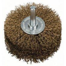 Brosse circulaire 80mm à fils ondulés et laitonnés 0,2mm Bosch 2608622130