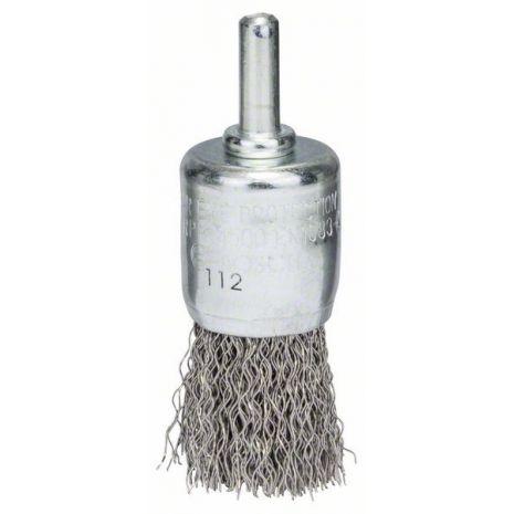Brosse pinceau 25mm à fils d'inox ondulés 0,3mm Bosch 2608622127