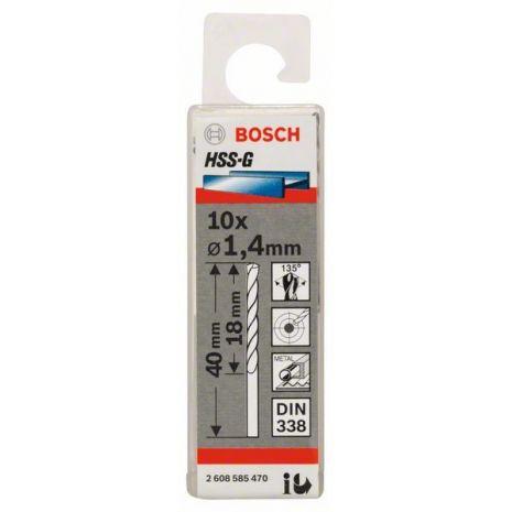 Forets à métaux rectifiés HSS-G, DIN 338 Bosch 2608585470