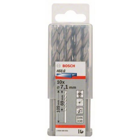Forets à métaux rectifiés HSS-G, DIN 338 Bosch 2608585501