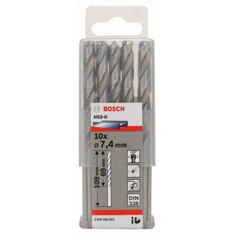 Forets à métaux rectifiés HSS-G, DIN 338 Bosch 2608585503
