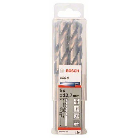 Forets à métaux rectifiés HSS-G, DIN 338 Bosch 2608585543
