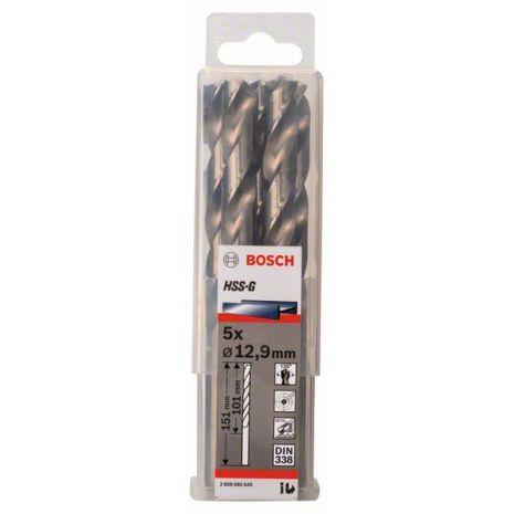 Forets à métaux rectifiés HSS-G, DIN 338 Bosch 2608585545