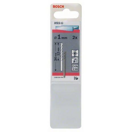 Forets à métaux rectifiés HSS-G, DIN 338 Bosch 2608585906