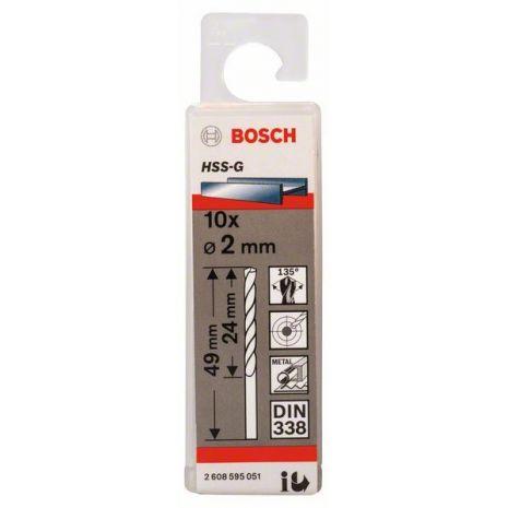 Forets à métaux rectifiés HSS-G, DIN 338 Bosch 2608595051