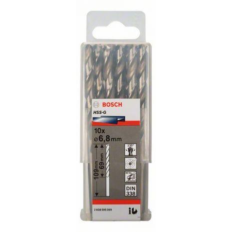 Forets à métaux rectifiés HSS-G, DIN 338 Bosch 2608595069