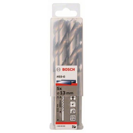 Forets à métaux rectifiés HSS-G, DIN 338 Bosch 2608595083