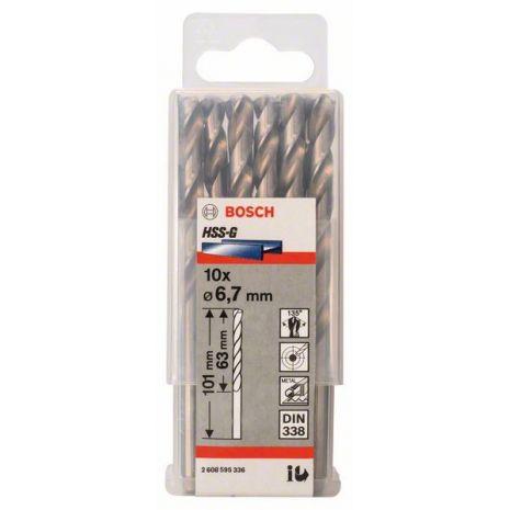 Forets à métaux rectifiés HSS-G, DIN 338 Bosch 2608595336