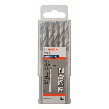 Forets à métaux rectifiés HSS-G, DIN 338 Bosch 2608595337