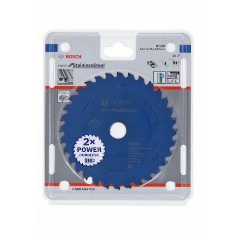 Lame de scie circulaire Expert for Stainless Steel pour scies sans fil 150 x 1,6/1,3 x 20 T32 Bosch 2608644532