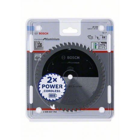 Lame de scie circulaire Standard for Aluminium pour scies sans fil 150 x 1,8/1,3 x 10 T52 Bosch 2608837762