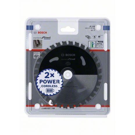 Lame de scie circulaire Standard for Steel pour scies sans fil 150 x 1,6/1,2 x 20 T32 Bosch 2608837748