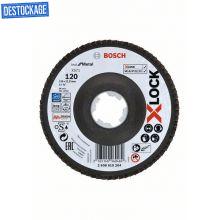 Plateaux à lamelles X-LOCK version coudée, spatule fibre, Ø 125mm, G120, X571, BestforMetal, 1pc Bosch 2608619204