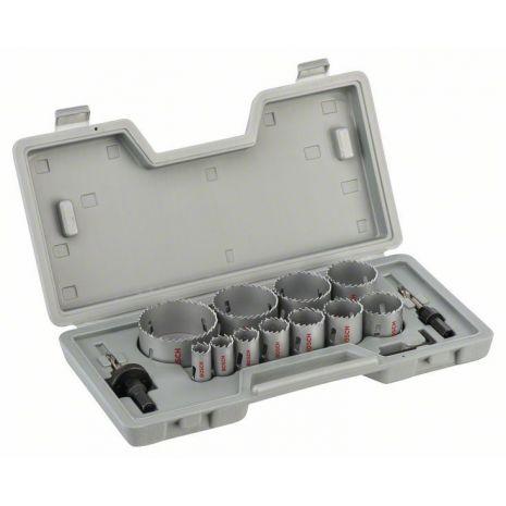 Scies-trépans bimétal HSS, coffret de 14 pièces Bosch 2607018390