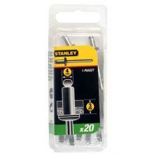 Rivet Aluminium - En Boite COURT - 4 mm x 3 (x 20 pcs) Stanley 1-PAA52T