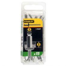 Rivet Aluminium - En Boite LONG - 5 mm x 9,5 (x 15 pcs) Stanley 1-PAA66T