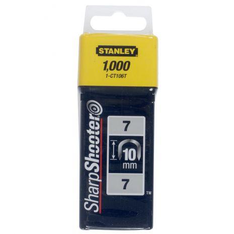 """Agrafes Cavaliers Type 7 - Boite De 1000Pcs Cavaliers 10 mm-3/8"""" Type 7 (1000) Stanley 1-CT106T"""