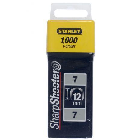 """Agrafes Cavaliers Type 7 - Boite De 1000Pcs Cavaliers 12 mm - 1/2"""" Type 7 (1000) Stanley 1-CT108T"""