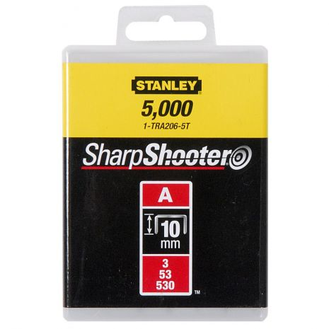 "Agrafes Type A - En Boite Agrafes 10 mm - 3/8"" Type A (5000) Stanley 1-TRA206-5T"