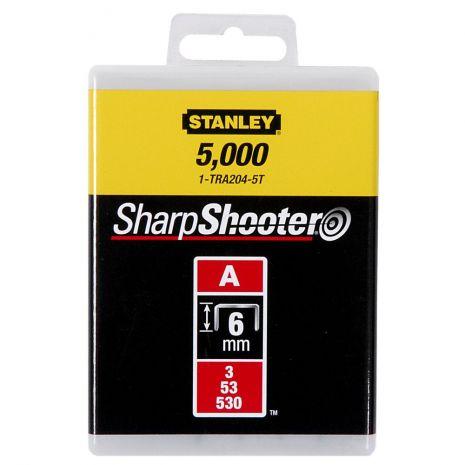 "Agrafes Type A - En Boite Agrafes 6 mm - 1/4"" Type A (5000) Stanley 1-TRA204-5T"