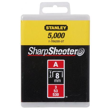 "Agrafes Type A - En Boite Agrafes 8 mm - 5/16"" Type A (5000) Stanley 1-TRA205-5T"