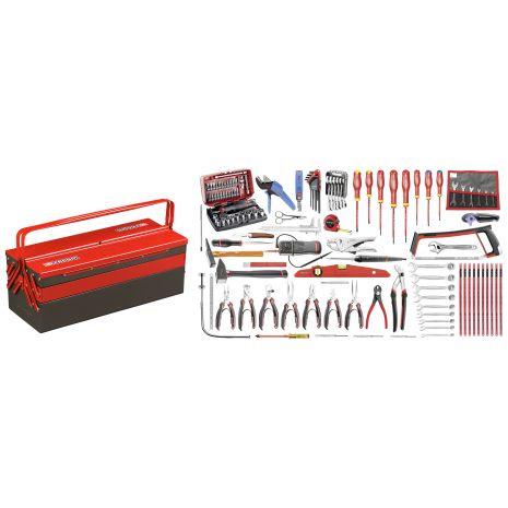 Sélection électronique 120 outils - boîte à outils métal 2070.E18 Facom