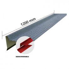 Rive Long 1200 pour tuile R Pro 1150x870 Gris - RIVETUILERPROG