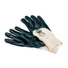 Gant mixte en nitrile sur coton avec poignet élastique pour 15828