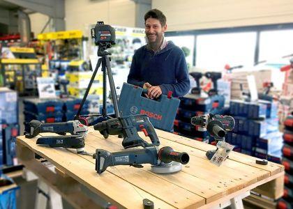 Le laser GLL3-80 Bosch testé et approuvé par Julien Goossens (charpentier)
