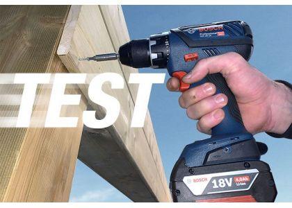 Test de la nouvelle perceuse visseuse Bosch GSR 18V-55